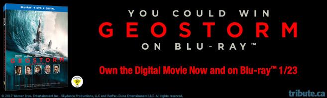 Geostorm Blu-ray contest