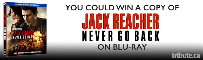 Jack Reacher Never Go Back Blu-ray Pack contest