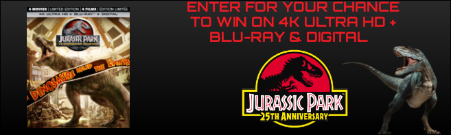 Jurassic Park 25th Anniversary Collection 4K Ultra HD Blu-ray contest
