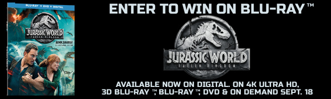 JURASSIC WORLD FALLEN KINGDOM Blu-ray contest