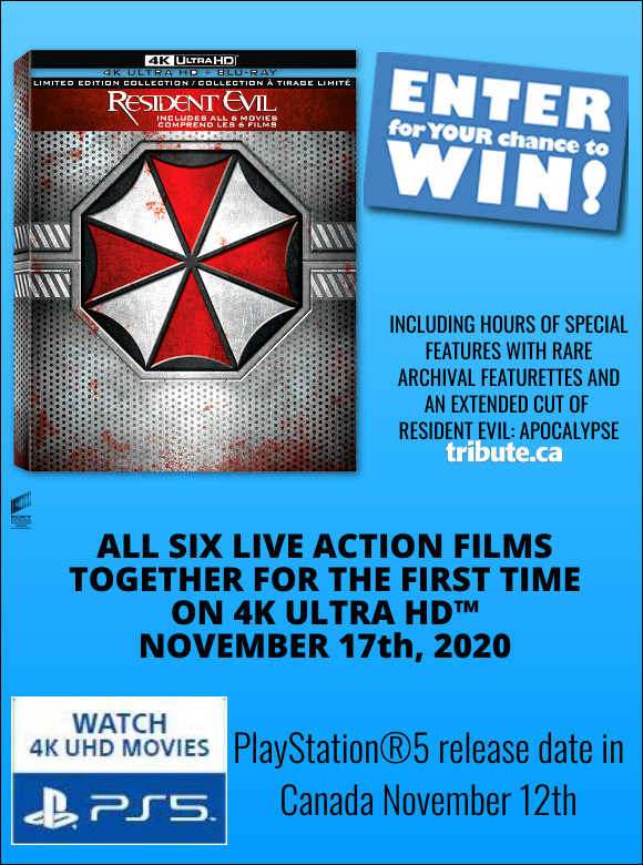 THE RESIDENT EVIL CollectionOn 4K ULTRA HD Contest