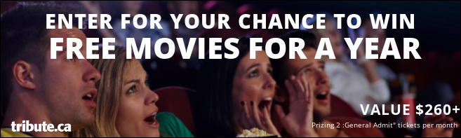 Tribute's WIN FREE MOVIES FOR A YEAR contest