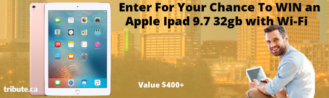 Tribute Win An Apple 9.7 32GB Ipad contest