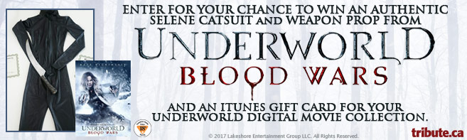 Underworld Blood Wars Authentic Matte Catsuit and ITunes Gift Card contest