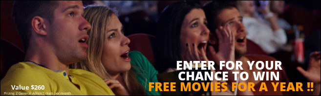 Win FREE MOVIES FOR A YEAR contest