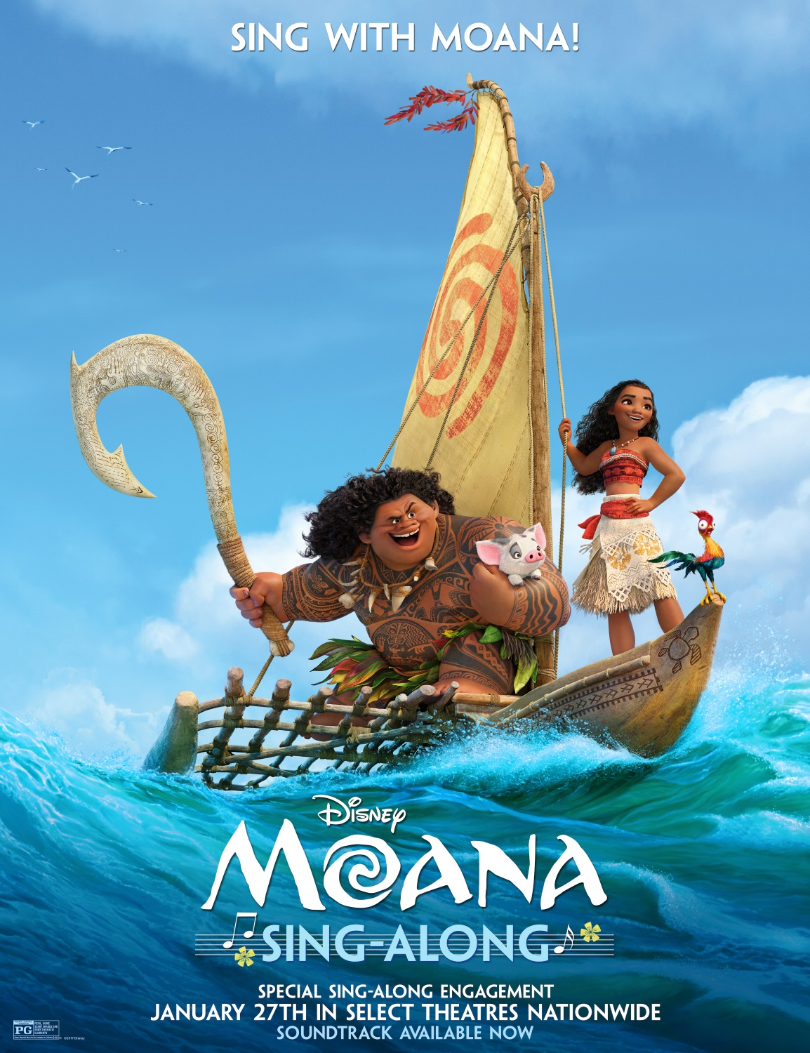 Moana sing-along version to hit theaters in late January