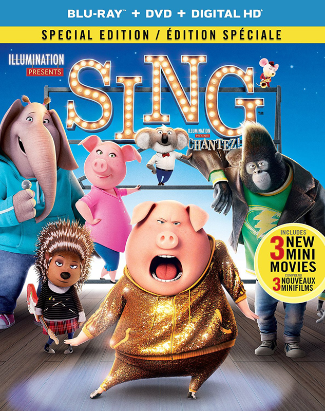 Sing on Blu-ray and DVD
