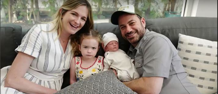 Jimmy Kimmel with his wife, Molly, daughter, Jane, and son, William.