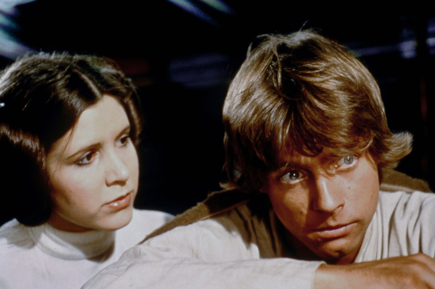 Princess Leia and Luke Skywalker in Star Wars: Episode IV - A New Hope (1977)