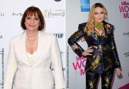 Left: Patti Lupone Right: Madonna