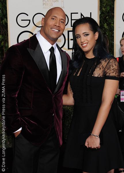 Dwayne Johnson and daughter Simone Alexandra Johnson