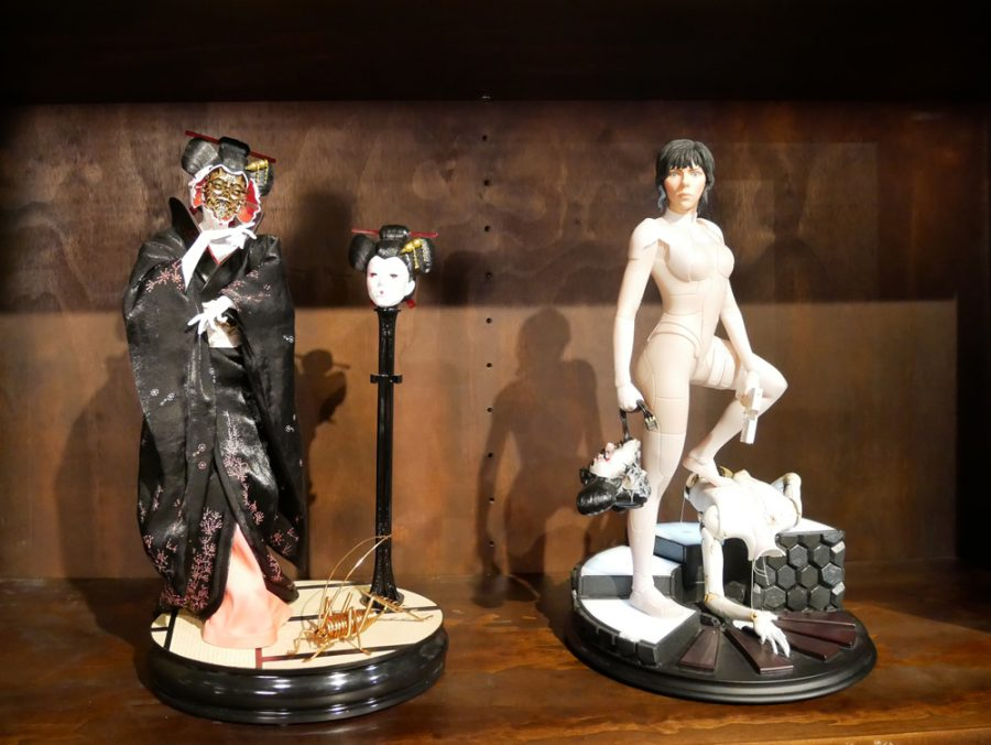 Ghost in the Shell figurines at WETA Workshop