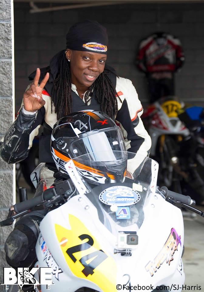 Stunt rider Joi 'SJ' Harris