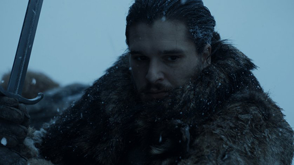 Jon Snow fighting with Longclaw