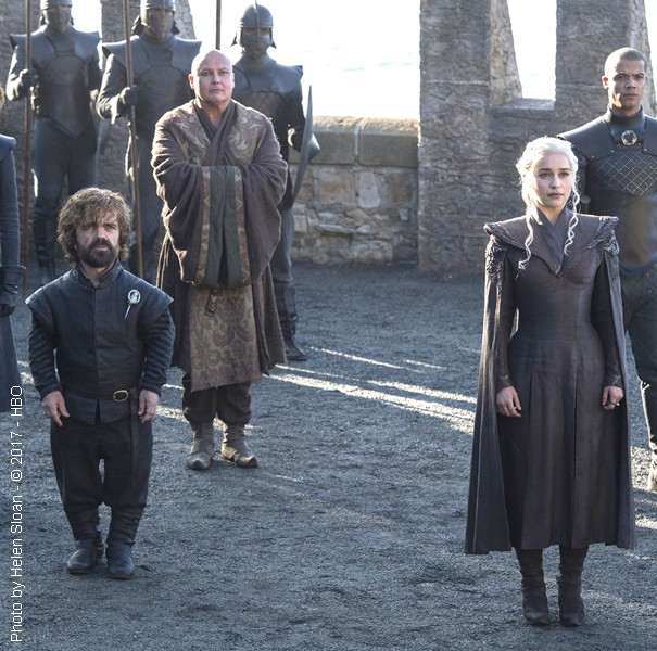 Peter Dinklage and Emilia Clarke in Game of Thrones