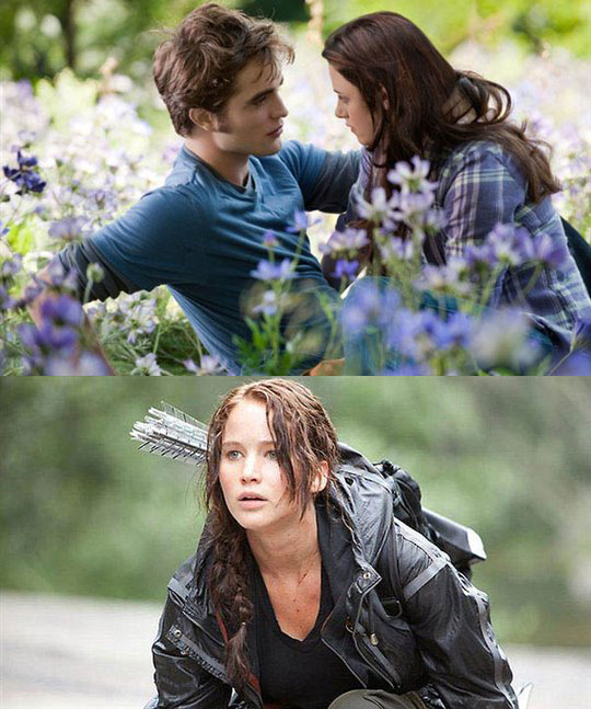 Twilight: Eclipse (top), The Hunger Games (bottom)