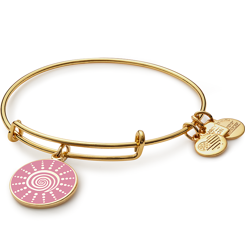 ALEX AND ANI Spiral Sun Charm Bangle