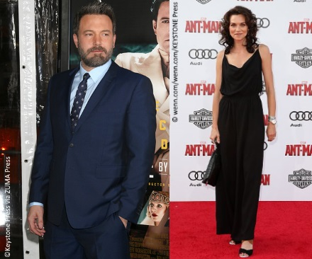 Ben Affleck (pictured left) and Hilarie Burton (pictured right) attending separate events