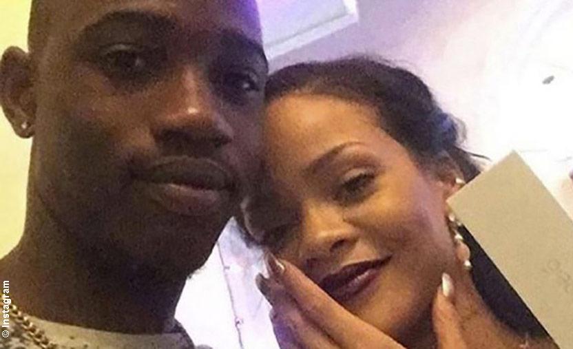 Rihanna with her cousin Tavon