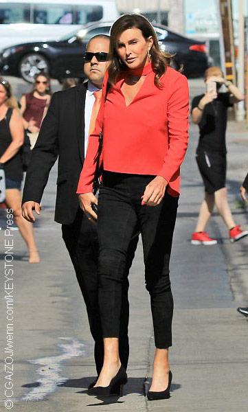 Caitlyn Jenner with bodyguard