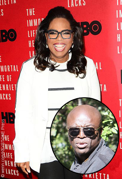 Oprah Winfrey with Seal (inset)