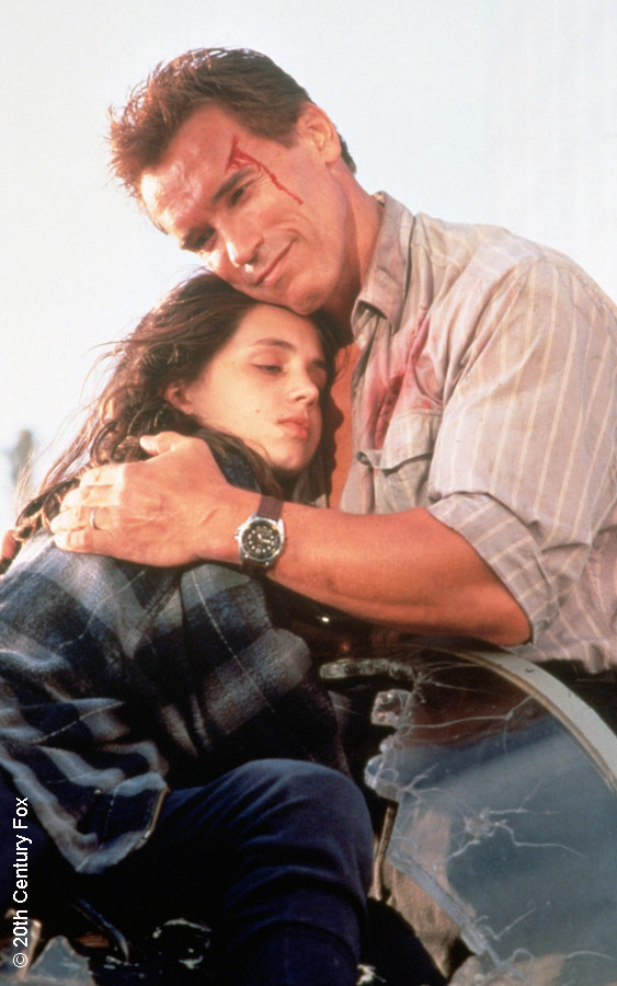 Eliza Dushku and Arnold Schwarzenegger in True Lies
