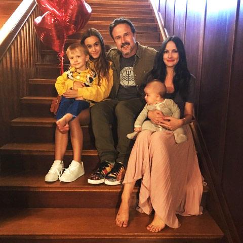 David Arquette and family. Courtesy David Arquette