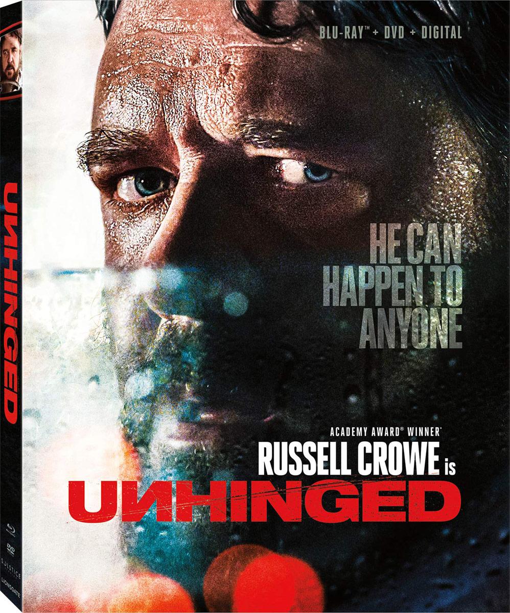 Unhinged Blu-ray starring Russell Crowe