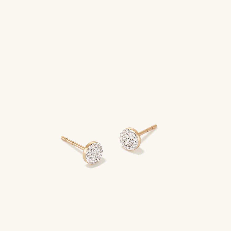 Mejuri Pave Diamond Round Studs